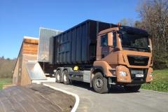 camion MAN livraison plaquettes forestières